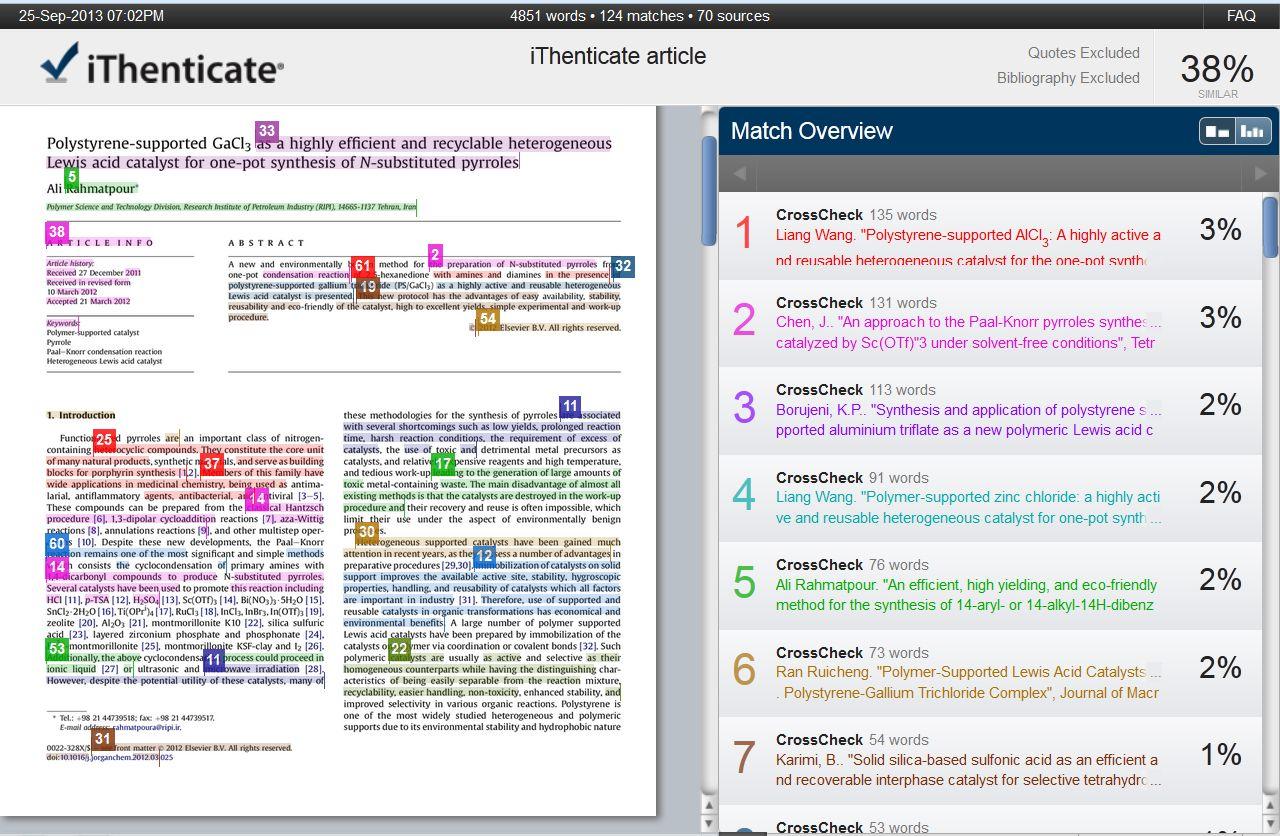 چک کردن سرقت ادبی مقاله با iThenticate ، تشخیص سرقت علمی ، شباهت متون ، بررسی Plagiarism با آیتنتیکیت چک کردن مقاله با ایدنتیکیت و دریافت گزارش پلاجیاریسم